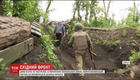 Шесть украинских воинов ранены на передовой