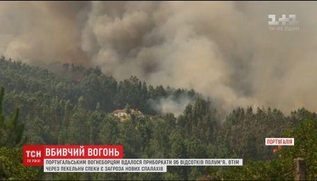 Португальским пожарным почти удалось обуздать масштабный лесной пожар
