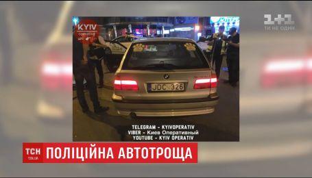 Київська поліція розшукує водія БМВ із литовськими номерами, який спровокував нічну ДТП