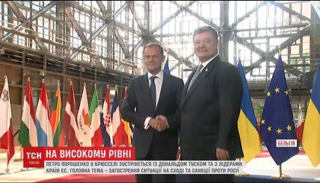 Порошенко у Брюсселі говоритиме з Меркель та Туском про ситуацію на Сході України
