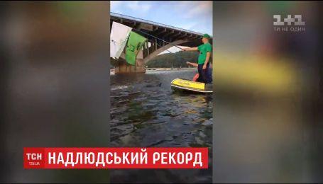 Олег Иваненко начал трудный путь к установлению рекорда Гиннеса по триатлону