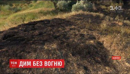 Одесса страдает от едкой гари, вызванной пожаром на свалке