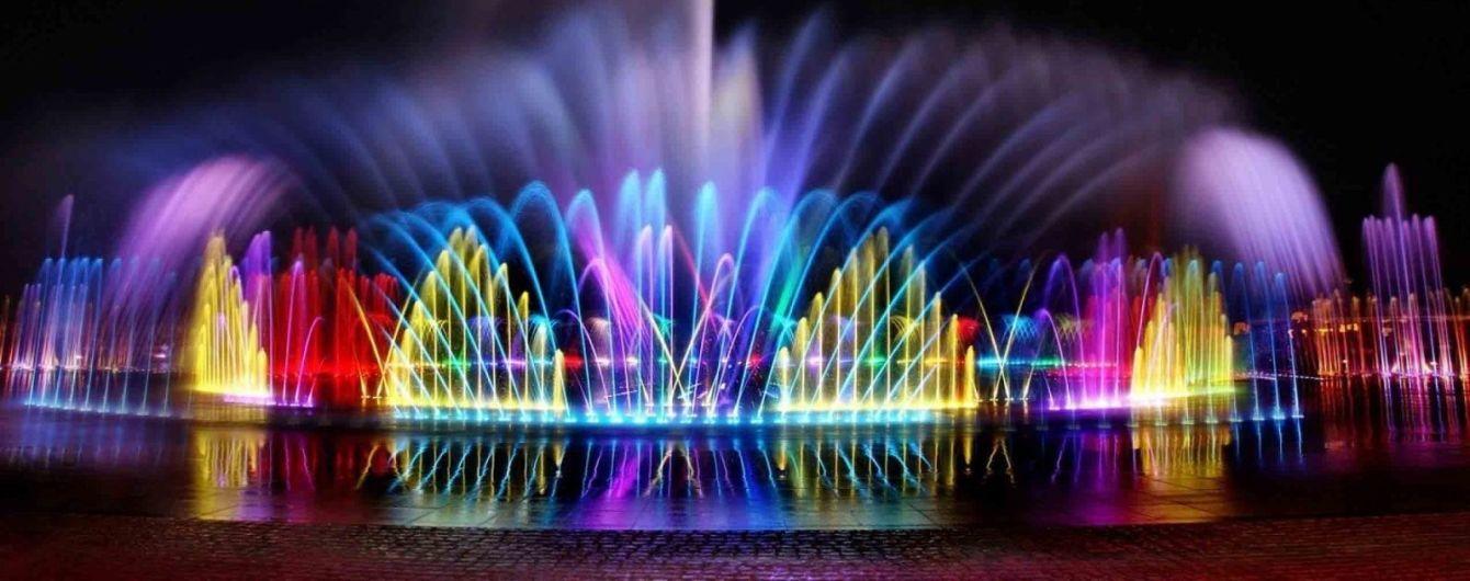В Умани открыли самый большой светомузыкальный фонтан центральной Украины