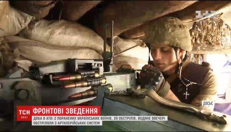 Бойовики випустили майже десятки снарядів по позиціях сил АТО в районі Водяного