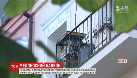 У Вінниці на балконі багатоповерхівки чоловік облаштував пасіку