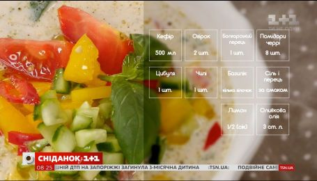 Холодний суп з овочами - рецепти Насирова