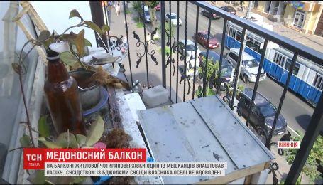 Мужчина поселил на своем балконе пчел, которые нервируют соседей