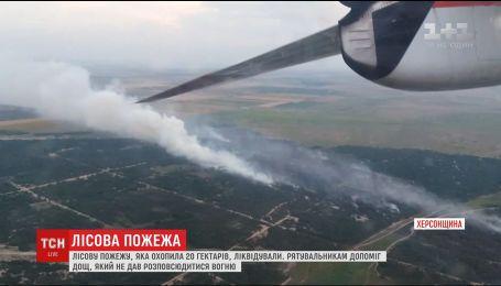 На Херсонщині повністю загасили лісову пожежу