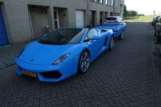В Нидерландах появился Lamborghini Gallardo Spyder с прицепом