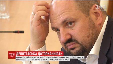 Регламентный комитет ВР поддержал представление на арест Борислава Розенблата