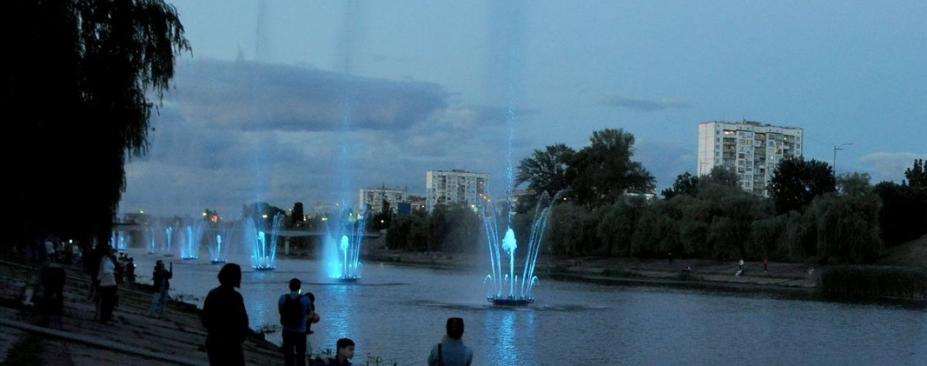 У КМДА пояснили, чому перестали працювати фонтани на Русанівському каналі
