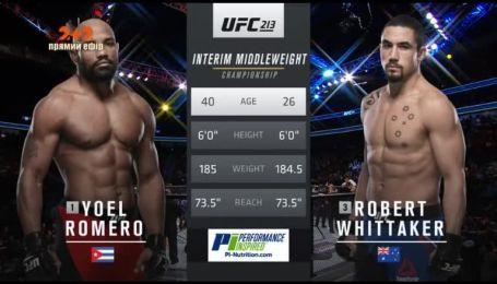 UFC. Роберт Віттакер - Йоель Ромеро. Відео бою