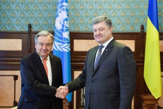 Порошенко і Гутерреш домовилися про візит в Україну заступника генсека ООН з політичних питань