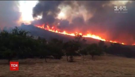 Потрясающее видео пожаров в Калифорнии показали спасатели