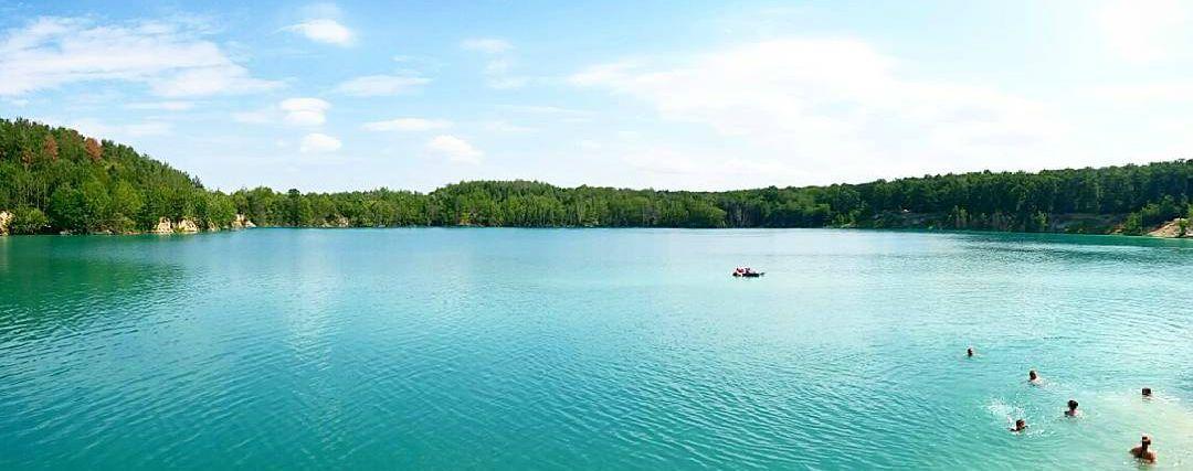 Черепашинський кар'єр, Черепашинці, блакитне озеро_3