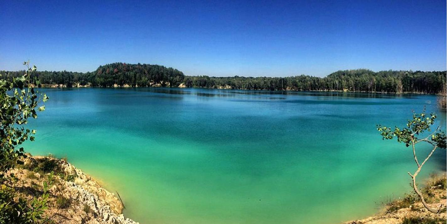 Черепашинський кар'єр, Черепашинці, блакитне озеро