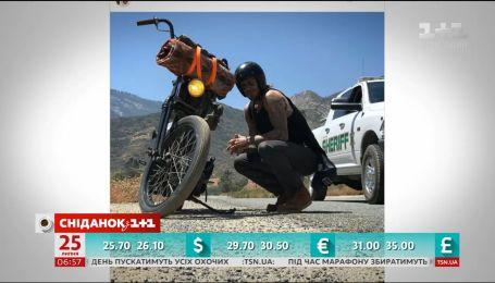 Девід Бекхем подорожує Америкою на мотоциклі