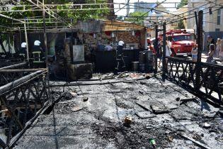 В Одессе на побережье выгорела дотла пиццерия