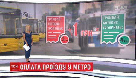 В метро киевляне массово меняют старые зеленые жетоны на новые синие