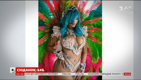 Ріана шокувала відвертим костюмом на барбадоському карнавалі