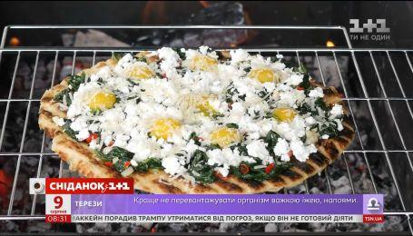 Пицца-гриль с зеленью - рецепты Сеничкина