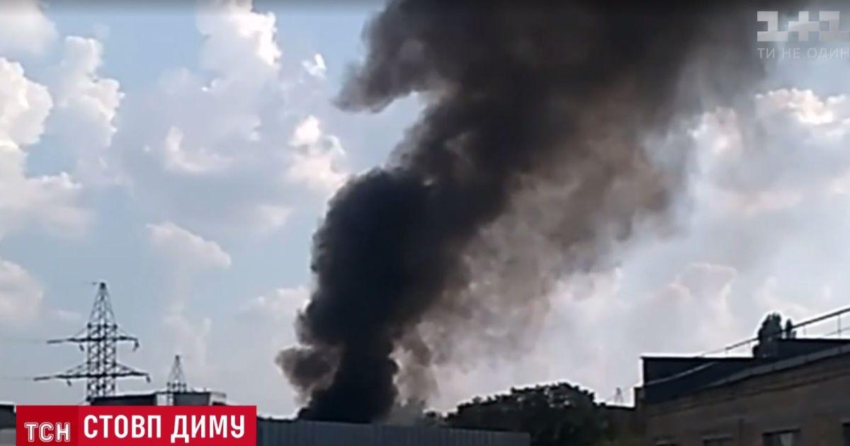 Иллюзия большого пожара: столб дыма над Святошинским районом напугал киевлян