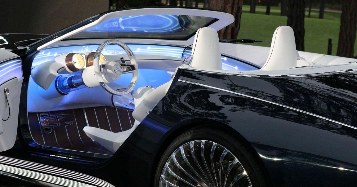 Немцы показали роскошный электрический кабриолет Vision Mercedes-Maybach 6
