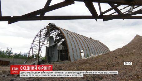 Двое украинских бойцов получили ранения в зоне АТО