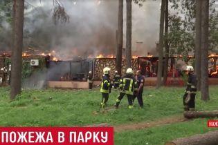 Повариха героически спасла попугая во время пожара ресторана в Киеве