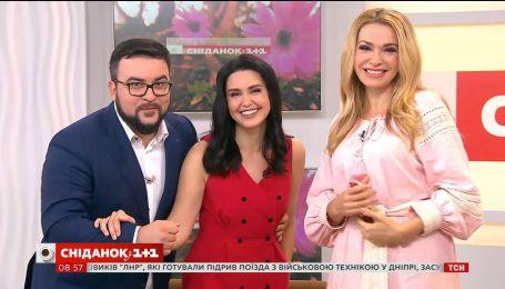 """Ольга Сумська святкує день народження в студії """"Сніданку з 1+1"""""""