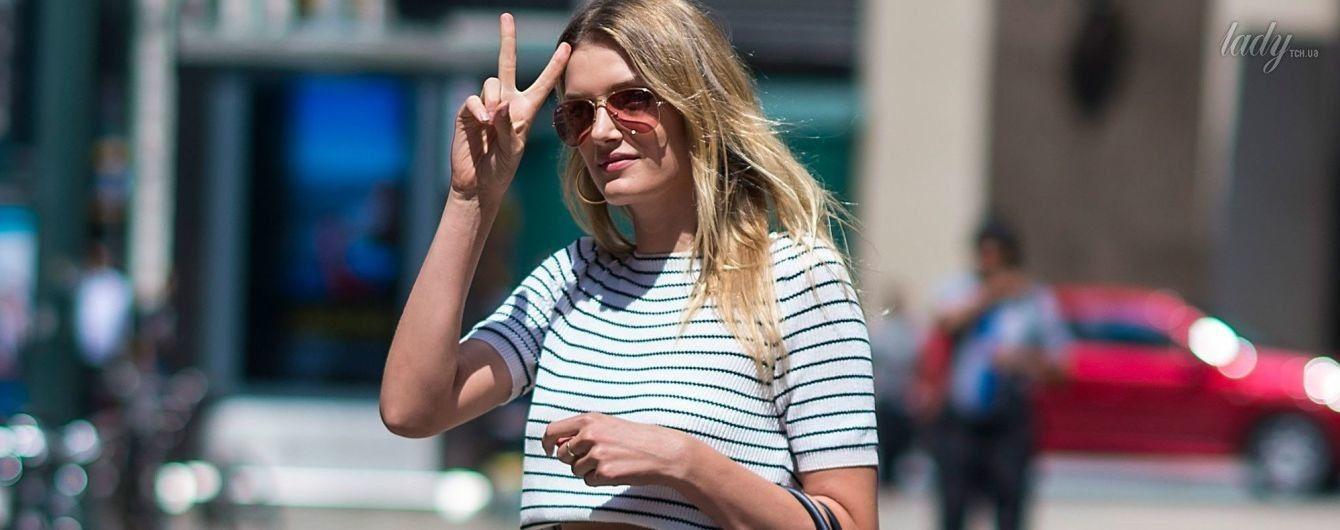 В мини-шортах и с сумкой Birkin: длинноногая Лили Дональдсон продефилировала на кастинг Victoria's Secret
