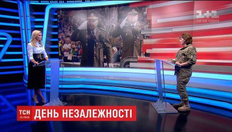 """В студію ТСН завітала вдова командира батальйону """"Київська Русь"""" Олена Гуменюк"""