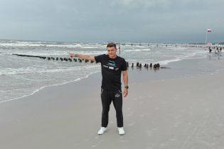 Польский спортсмен впервые в истории переплыл Балтийское море