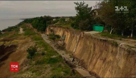 Великий зсув ґрунту стався у Фонтанці під Одесою