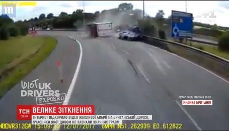 Интернет покорило видео ужасной аварии на британской дороге
