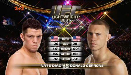 UFC. Нэйт Диас - Дональд Серроне. Видео боя