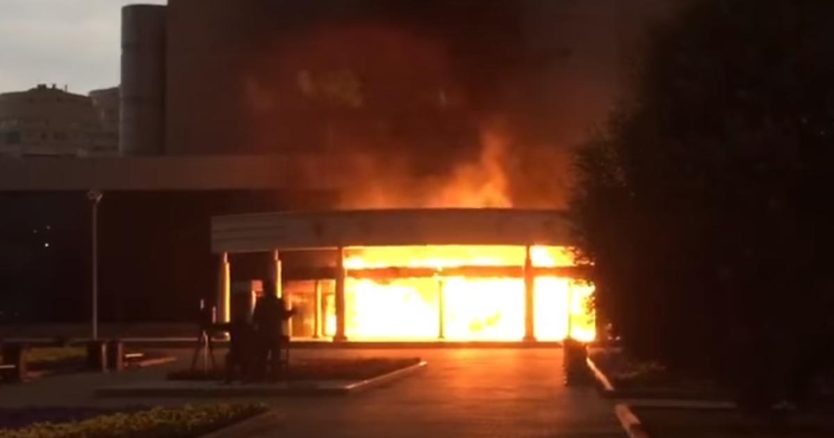 Вслед за торговым центром под Москвой загорелся рынок в Ростове