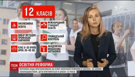 Старт освітньої реформи: українські діти вчитимуться у школі 12 років