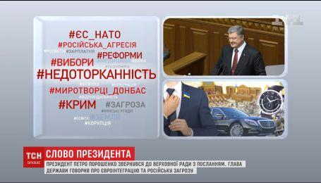 Порошенко виступив зі щорічним зверненням до Верховної Ради