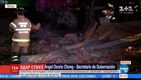 Сильнейшее землетрясение века в Мексике унесло жизни 5 человек