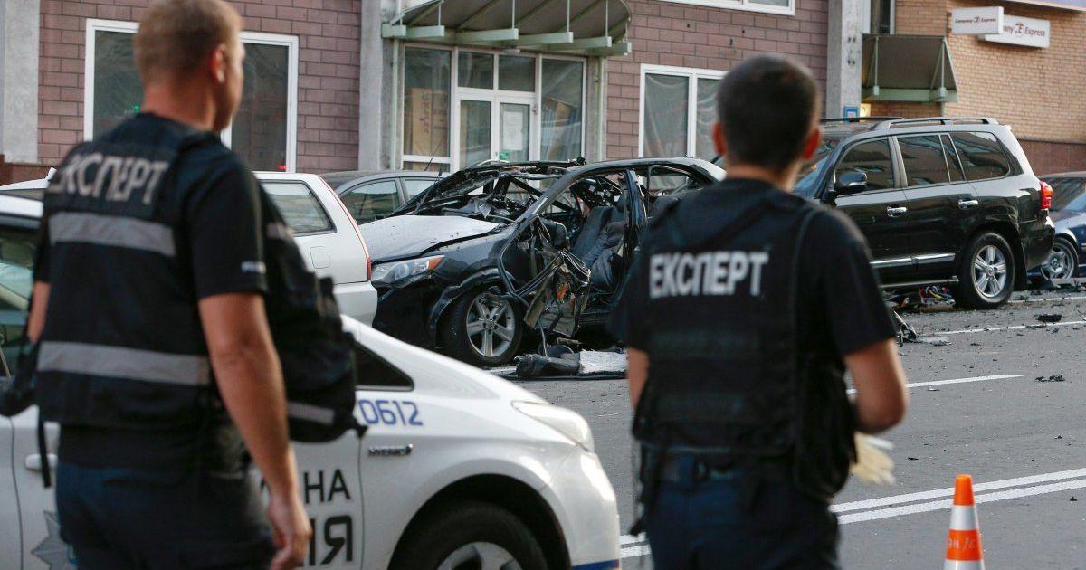 """Полиция изучает видео, на котором """"засветился"""" взрывник авто в центре Киева – СМИ"""