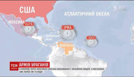 """По самым разрушительным в мире ураганам """"Ирма"""" надвигаются еще два ураганы"""