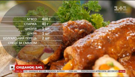 М'ясні рулети з овочами - рецепти Сенічкіна