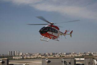 Вперше в історії санітарний гелікоптер з пацієнтом приземлився на даху Інституту серця
