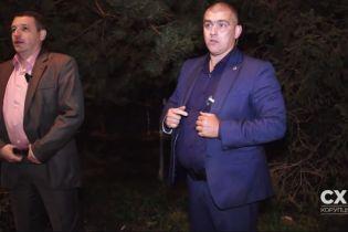 Журналист обнародовал видео нападения госохранников на съемочную группу возле ресторана с Порошенко
