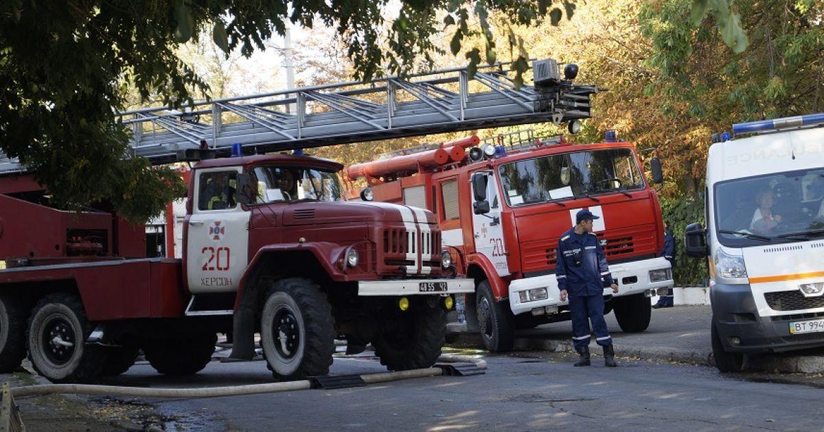 В Херсоне объявили траур по погибшим в пожаре жилого дома