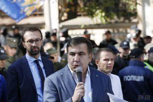 Саакашвили созвал вече под Радой, на митинг уже собрались его сторонники. Онлайн