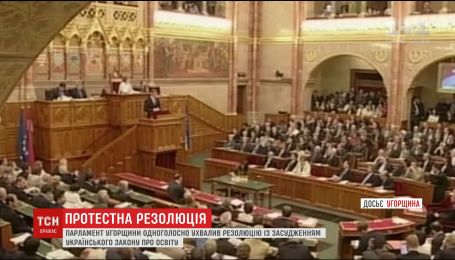 Угорські парламентарі схвалили резолюцію із засудженням українського закону про освіту