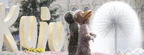 Киев днем польет дождем с грозой