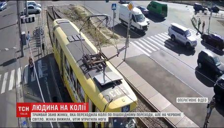 В Харькове женщина потеряла ногу из-за наезда трамвая